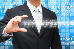 Business man show the Digital bar Stock Images