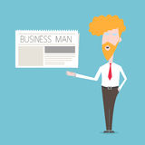 Business Man show newspaper Royalty Free Stock Images