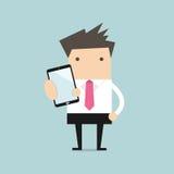 Business man show smart phone Stock Image
