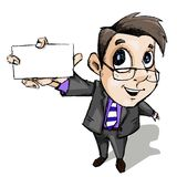 Business Man showing Blank Card Stock Images