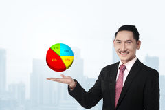 Business Man Showing Digital Chart Stock Image
