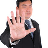 Business man showing five fingers. Royalty Free Stock Photo