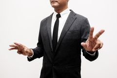 Business man showing hand and finger. S Stock Photography