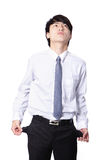 Business man showing his empty pockets Stock Images