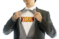 Business man showing inside of his suit. Asian young business man showing inside of his suit Stock Photography
