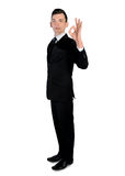 Business man showing ok sign Royalty Free Stock Photos