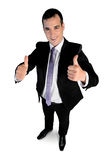 Business man  showing ok sign Royalty Free Stock Images
