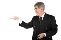 Business man showing a product Stock Photo
