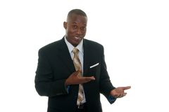 Business Man Showing Product Sample Stock Images