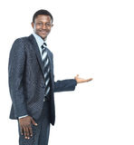 Business man showing something Stock Photography