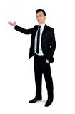 Business man showing something Royalty Free Stock Photography