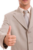Business man showing thumb up Royalty Free Stock Photos