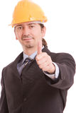 Business man showing thumb up Stock Photo