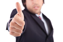 Business man showing thumb up Royalty Free Stock Photography