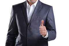 Business man showing thumb up 3 Royalty Free Stock Photos