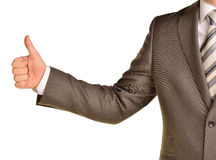 Business man showing thumb up Royalty Free Stock Photo