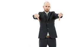 Business man showing thumbs down Stock Photos