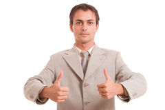 Business man showing thumbs up Royalty Free Stock Images