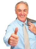 Business man showing a thumbs up Royalty Free Stock Images