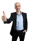 Business man showing thumbs up gesture Stock Photo