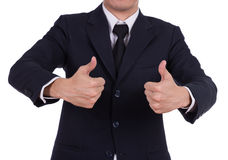 Business man showing thumbs up gesture Royalty Free Stock Images