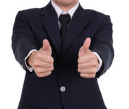 Business man showing thumbs up gesture Stock Image