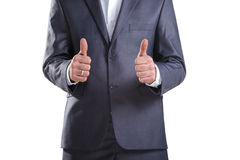 Business man showing two thumbs up Stock Image