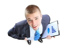 Business man showing the upward trend Stock Image