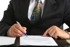 Business man siging a contract Stock Photography