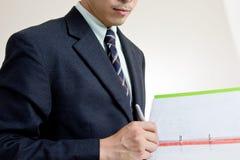 Business man sign Stock Photo