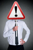 Business man with sign Royalty Free Stock Photos
