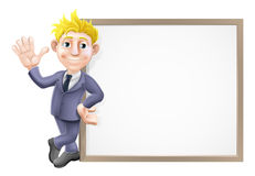 Business man and sign Royalty Free Stock Photos