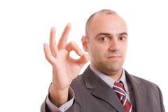 Business man signaling ok royalty free stock photos