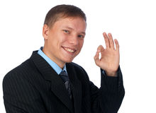 Business man signaling ok Stock Photo