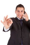 Business man signaling ok Royalty Free Stock Photo
