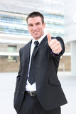 Business Man Signaling Success Stock Image