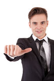 Business man signalling ok Stock Image