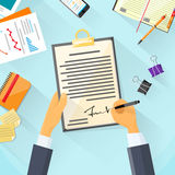 Business Man Signature Document Signing Up Stock Images
