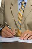 Business Man Signing Stock Images