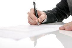 Business man signing a contract Stock Photography