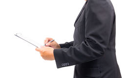 Business man signing contract Stock Images