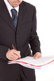 Business man signing document Royalty Free Stock Photos