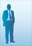 Business Man Silhouette Stock Images