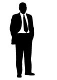 Business man silhouette Stock Photo