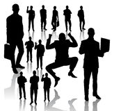 Business Man Silhouettes Royalty Free Stock Photos