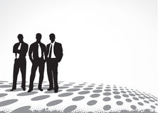 Business man silhouettes Royalty Free Stock Photo
