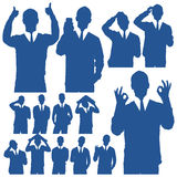 Business Man Silhouettes Royalty Free Stock Photography