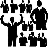 Business Man Silhouettes Stock Photo