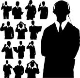Business Man Silhouettes Royalty Free Stock Image