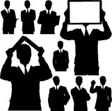 Business Man Silhouettes Stock Photos